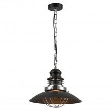 Светильник подвесной лофт Lussole LOFT LSP-8029 (GRLSP-8029) Ketchikan хром/черный E27 60 Вт