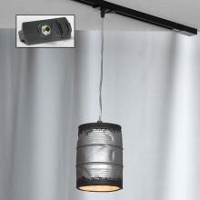 Светильник подвесной лофт Lussole LOFT LSP-9526-TAB Northport никель E27 60 Вт
