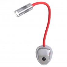 Бра светодиодное LGO LSP-8178 Texoma хром/красный LED 3 Вт 3000К
