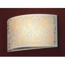 Светильник настенный настенный Lussole LSF-2301-01 Vetere, 1 плафон, белый с хромом, бежевый