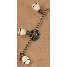 Светильник спот Lussole LSL-7301-03 Furlo, 3 плафона, античная бронза, белый