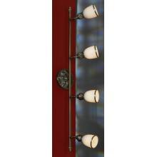 Светильник спот Lussole LSL-7301-04 Furlo, 4 плафона, античная бронза, белый