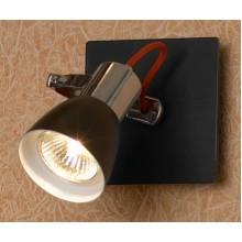 Светильник спот Lussole LSL-7401-01 Frontino, 1 плафон, хром с черным