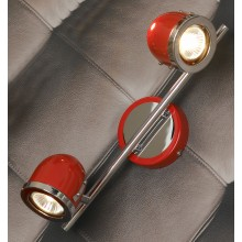 Светильник спот Lussole LSN-3101-02 Tivoli, 2 плафона, хром с красным