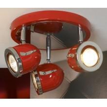 Светильник спот Lussole LSN-3107-03 Tivoli, 3 плафона, хром с красным
