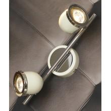 Светильник спот Lussole LSN-3111-02 Tivoli, 2 плафона, хром с белым