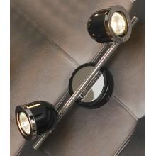 Светильник спот Lussole LSN-3121-02 Tivoli, 2 плафона, хром с черным