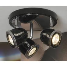 Светильник спот Lussole LSN-3127-03 Tivoli, 3 плафона, хром с черным