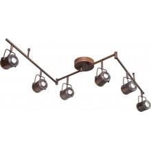 Светильник спот светодиодный Lussole LSP-9136 Loft, 6 плафонов, коричневый с черным