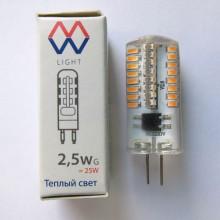 Лампа светодиодная Mw-light LBMW0403 G4 2,5W 2700K 220V