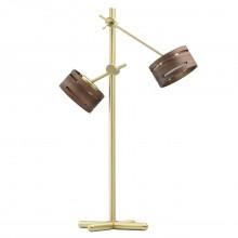 Настольная лампа DeMarkt 725030602 Чил-аут 2*5W LED 220 V золотой с сенсорным выключателем
