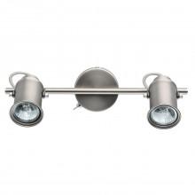 Спот DeMarkt 551020302 Вальтер 2*35W GU10 220 V серебристый с выключателем