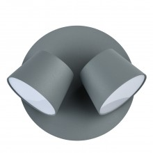 Светодиодное бра DeMarkt 717020702 Хартвиг 2*5W LED 220 V серый