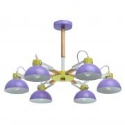 Потолочная люстра MW-Light 711010306 Чили 6*8W E27 220 V (энергосб) разноцветный