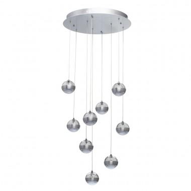 Каскадная люстра Chiaro 730010209 Капелия 9*6W LED 220 V (пульт) серебристый