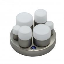 Настольная лампа светодиодная Chiaro 710030406 Морфей 12W LED 220 V серебристый