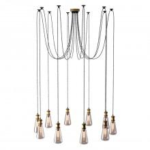 Люстра лофт MW-Light 392017310 Фьюжн 10*40W E27 220 V бронзовый