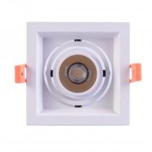 Встраиваемый светодиодный светильник Chiaro 637016101 Круз 1*7W LED 220 V белый