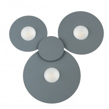 Потолочный светодиодный светильник Chiaro 637017903 Круз 3*5W LED 220 V серый