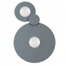 Потолочный светодиодный светильник Chiaro 637017702 Круз 2*5W LED 220 V серый