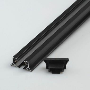 Шинопровод однофазный Chiaro TR 2*1,5M BL Трек 1 группа 1,5м черный