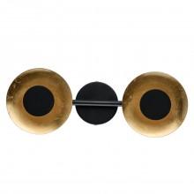 Светодиодный спот De Markt 452024402 Галатея 2*6W LED 220 V черного цвета; цвета золота, технология поталь