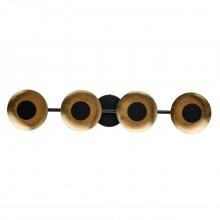 Светодиодный спот De Markt 452024804 Галатея 4*6W LED 220 V черного цвета; цвета золота, технология поталь