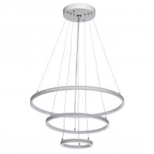Подвесная светодиодная люстра De Markt 496019103 Аурих 60W LED 220 V с пультом, белый