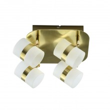 Спот De Markt 704010704 Этингер 4*2,5W LED 220 V матовое золото