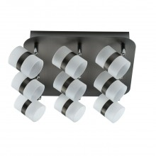 Спот De Markt 704011009 Этингер 9*2,5W LED 220 V матовое серебро