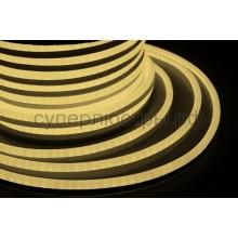 Гибкий неон светодиодный, постоянное свечение, теплый белый, 220V, бухта 50м, Neon-Night 131-016