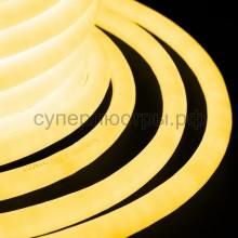 Гибкий неон светодиодный 360, постоянное свечение, желтый, 220V, бухта 50м, Neon-Night 131-031