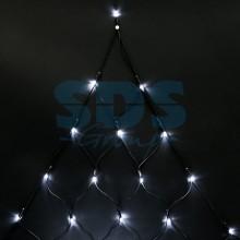"""Гирлянда """"Сеть"""" 2х2х1.5м, свечение с динамикой, черный провод, 136 LED, 230V, белый, Neon-Night 215-005"""