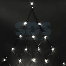 """Гирлянда """"Сеть"""" 2х2х1.5м, свечение с динамикой, черный провод, 136 LED, 230V, теплый белый, Neon-Night 215-006"""