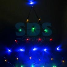 """Гирлянда """"Сеть"""" 2х2х1.5м, свечение с динамикой, черный провод, 136 LED, 230V, RGB, Neon-Night 215-009"""