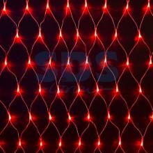 """Гирлянда """"Сеть"""" 2х1,5м, свечение с динамикой, прозрачный провод, 288 LED, 230V, красный, Neon-Night 215-042"""
