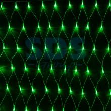 """Гирлянда """"Сеть"""" 2х1,5м, свечение с динамикой, прозрачный провод, 288 LED, 230V, зеленый, Neon-Night 215-044"""