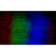 """Светодиодная гирлянда """"Сеть"""" 3х0,5м, прозрачный провод, 140 LED RGB, Neon-Night 215-049"""
