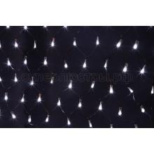 """Гирлянда """"Сеть"""" 1х1,5м, черный провод, 160 LED, белый, Neon-Night 215-115"""