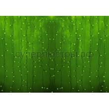 """Гирлянда """"Светодиодный Дождь"""" 2x0,8м, прозрачный провод, 230V, зеленый, 160 LED, Neon-Night 235-104"""