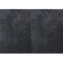 """Гирлянда """"Светодиодный Дождь"""" 2*9м, постоянное свечение, черный провод, 220V, белый, Neon-Night 235-185"""