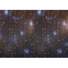 """Гирлянда """"Светодиодный Дождь"""" 2*3м, эффект мерцания, белый провод, 220V, желтый, Neon-Night 235-215"""