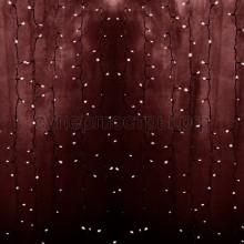 """Гирлянда """"Светодиодный Дождь"""" 2х1,5м, постоянное свечение, прозрачный провод, 230V, розовое золото, 360 LED, Neon-Night 235-308"""