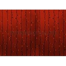 """Гирлянда """"Светодиодный Дождь"""" 2х1,5м, постоянное свечение, черный провод, 230V, красный, 360 LED, Neon-Night 237-122"""