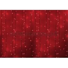 """Гирлянда """"Светодиодный Дождь"""" 2х3м, постоянное свечение, белый провод, 230V, красный, 760 LED, Neon-Night 237-132"""