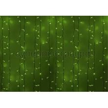 """Гирлянда """"Светодиодный Дождь"""" 2х3м, постоянное свечение, белый провод, 230V, зеленый, 760 LED, Neon-Night 237-134"""