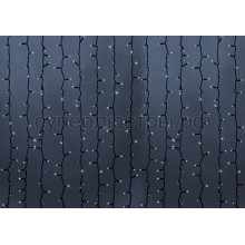 """Гирлянда """"Светодиодный Дождь"""" 2*3м, постоянное свечение, черный провод, 220V, белый, Neon-Night 237-145"""