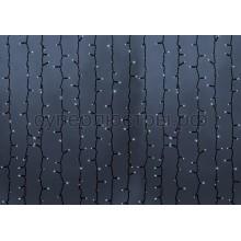 """Гирлянда """"Светодиодный Дождь"""" 2*9м, постоянное свечение, черный провод, 220V, белый, Neon-Night 237-185"""