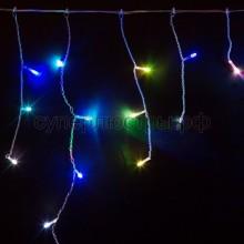 Гирлянда Айсикл (бахрома) светодиодный, 4,8 х 0,6 м, прозрачный провод, 230V, RGB, 176 LED, Neon-Night 245-209