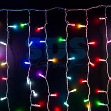 """Гирлянда """"Светодиодный Дождь"""" 2х1,5м, прозрачный провод, 230V, RGB, 300 LED свечение с динамикой при приобитении контроллера 245-907, Neon-Night 245-309"""